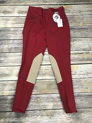 Highline Outfitters Breeches in Red with Tan Patch - Children's 16