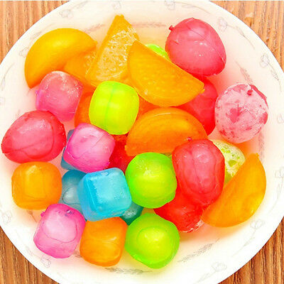 6pcs Reusable Plastic Ice Cubes Multicolour Cool Cold Drinks Bar Barbecue BBQ