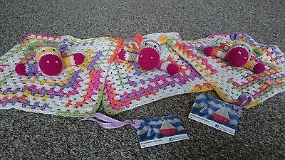 Crochet Kit, Hippo Snuggle Blanket, Pattern and Materials