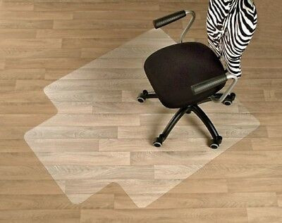 FloordirektPRO Office Chair Mat - 90x120cm - 100% Polycarbonate With Lip - Hard