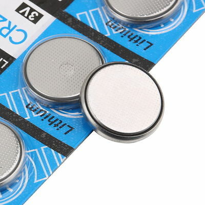 5PCS/sheet Lots CR2032 3V Button Cell Coin Battery for Watch Toys Remote