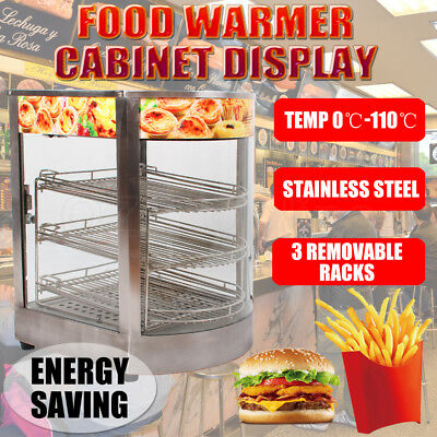Stainless Steel Food Warmer Hamburger Egg Tart Pie Hot Display Showcase Cabinet