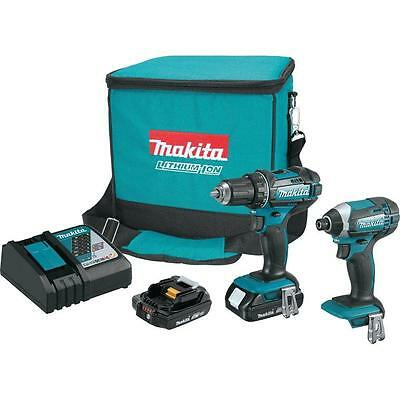Makita CT225R 18-Volt Compact Lithium-Ion Cordless Combo Kit (2-Piece) New