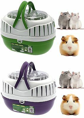 Happy Pet SMALL PET ANIMAL CARRIER Plastic travel cage hamster gerbil rat mouse
