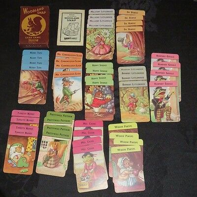 Vintage WOODLAND SNAP Pepys card game.Complete with rules