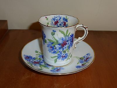 "Lovely,Vintage, Hammersley & Co @ ""6074 E "" Pattern  Blue Cornflowers Coffee Duo"