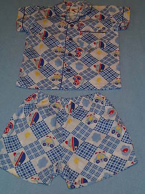 Target Cute Little Boys Summer Pajamas, Size 000 - Brand New