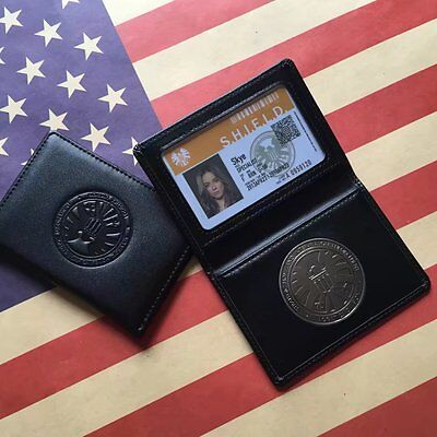 Avengers Agents of S.H.I.E.L.D Shield Skye Badge in Leather Wallet Holder Case
