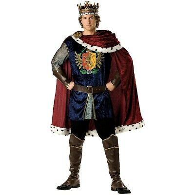 King Arthur Costume Adult Medieval Renaissance Halloween Fancy Dress