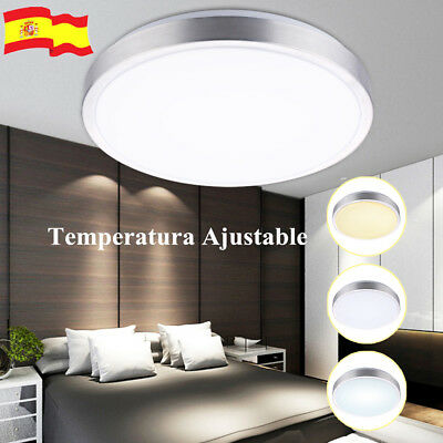 18W Round LED Lámpara Ceiling Panel Light Warm/Cool White Iluminación de techo