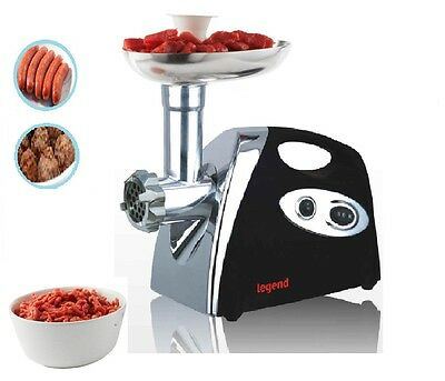 Electric Meat Heavy Duty Mincer Grinder Sausage Kibbe Maker Filler Mix Black