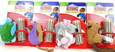 Kong Cat Kitten Soft Plush Refillable Cat Catnip Toy with a Re-fill Tube Catnip