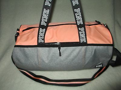 Victoria's Secret Pink  Duffle  Bag tote  Peach coral New