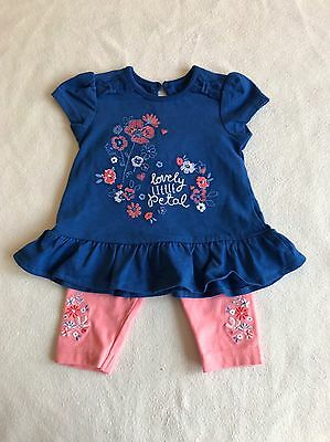 Baby Girls Clothes 0-3 Months- Cute Tunic Top & Leggings Outfit - New