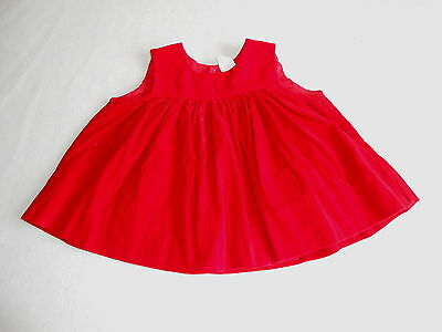 Baby Girls Clothes 12-18  Months  - Pretty Red Velour Top -