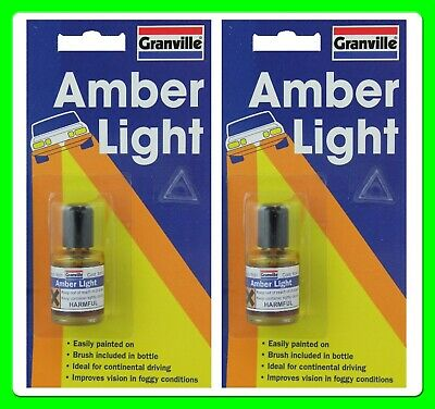 * Pack of 2 * Granville Amber Light Paint For Car & Motorhome Headlamps [0010]