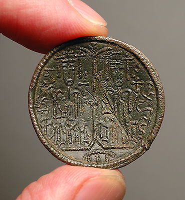 M17-07   Copper Rézpénz from Béla III of Hungary 1172-1196AD.