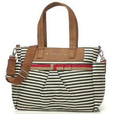 Babymel Nappy Changing Bag - Cara (Stripe Navy)