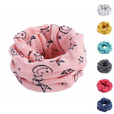 Kid Boy Girl Star Smile Cycling Neck Warmer Tube Children Scarf Scarves Bandanas