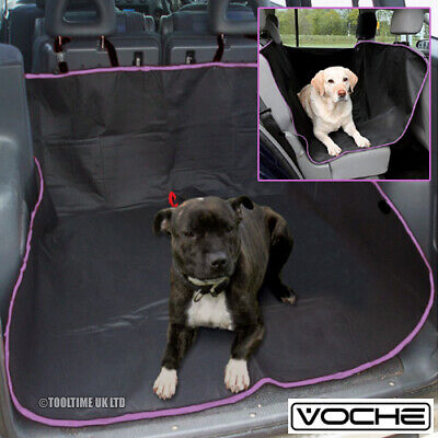 Voche Black / Pink Waterproof Car Rear Back Seat Cover Pet Protector Boot Mat