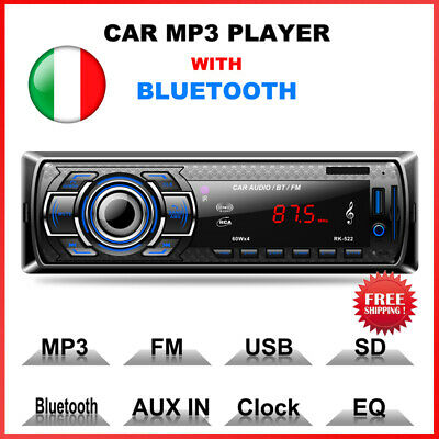 "7"" 2 DIN Autoradio Navigazione Bluetooth GPS Touch Screen Audio Stereo FM/USB/SD"