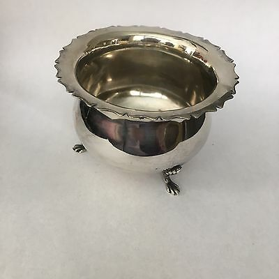 John & William Deakin Sterling Silver Sugar Bowl, 1900, Chester England JD WD
