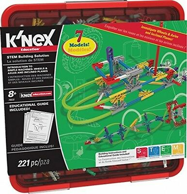 K'NEX Intro To Simple Machines Wheels/Axles And Inclined Planes Set