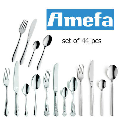 Amefa Cutlery Set 44 Piece Stainless Steel Stylish Kitchen Dining Table Utensils