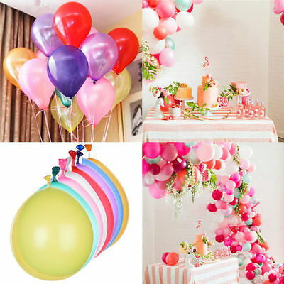 "10"" INCH 100 PCS Birthday Wedding Baby Shower Party Pearl Latex Balloons baloons"