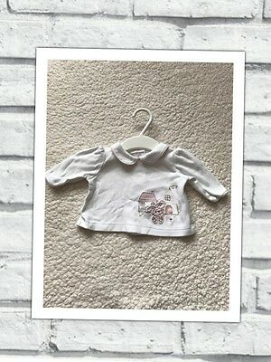 Baby Girls Clothes Newborn - Pretty White By Bunny T Shirt Top -