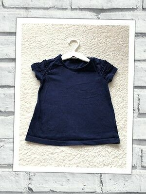 Baby Girls Clothes 18-24 Months-Cute Blue T Shirt Top