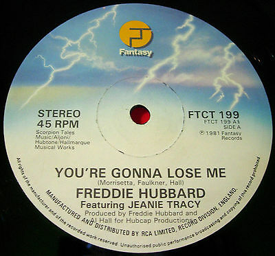 "Freddie Hubbard/Jeanie Tracy You're Gonna Lose Me 12""UK ORIG 1981 Fantasy VINYL"