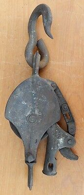 Uncommon PAT 1894 Cast Iron Complex Pulley - Collectible - B7