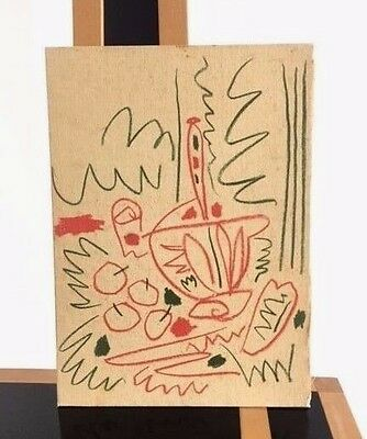 1950s painting freeform sketch drawing in the manner of Picasso