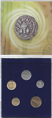 Israeli Uncirculated Mint Set Dated 1997-1998 (5 Coins)
