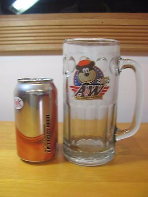 A & W Root Beer Large Tall Glass Mug 2008 Collectible Bear