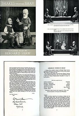 Shakes versus Shav a Puppet Play by Bernard Shaw Waldo S. Lanchester