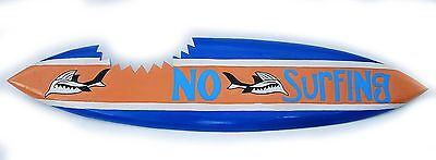 Surf board from wood as a Decoration No Surfing Surfboard 100cm to hang up