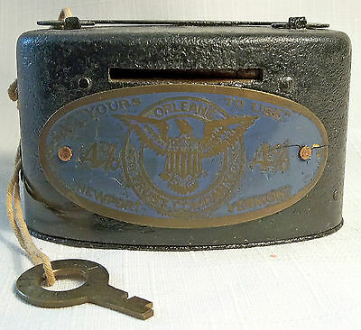VTG PROMOTIONAL METAL BANK ORLEANS TRUST CO. NEWPORT VERMONT W/ WORKING KEY 40's