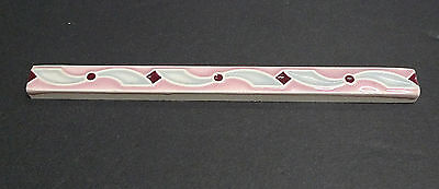 Pilkington Thin Decorative Border Tile/ Liner Pink-Gray Ribbon