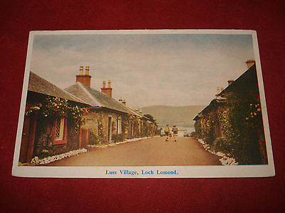 VINTAGE SCOTLAND: LOCH LOMAND Luss Village colour tint Thompson