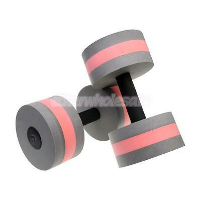 2 Pieces Aquatic Exercise Dumbells for Water Aerobics and Exercise Grey Pink