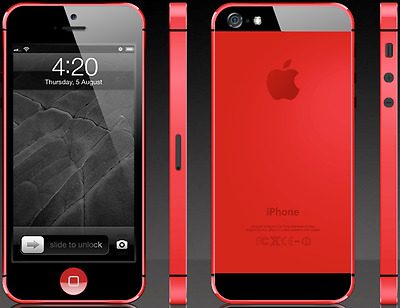 APPLE iPhone 5 - 32GB, 4G Sim Free Smartphone Red + Free Silicon Case
