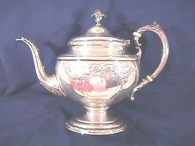 "Towle Sterling ""traditional Chased"" #-76510 Tea Pot Weighs 23.9 Ounces"