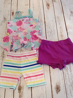 Girls size 2T 3 piece lot of shorts and top