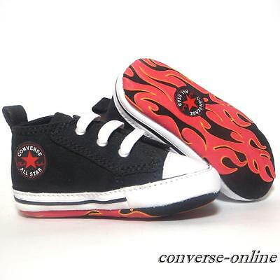 Baby Boys CONVERSE All First Star FLAMES SLIP ON Crib Trainers Shoe 17 UK SIZE 1