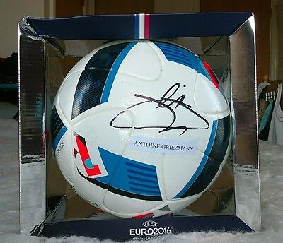 Paul Pogba and Griezmann signed UEFA Euro 2016 matchball football..New with box