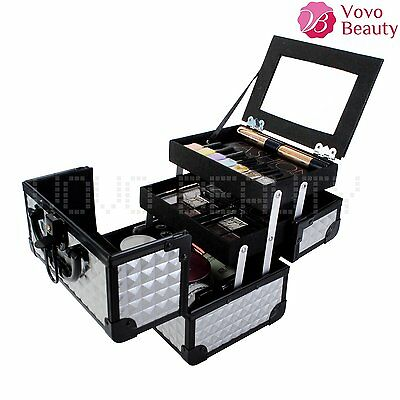Professional Vanity Makeup Case Beauty Box Cosmetic Nail Organiser With Mirror