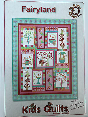 Fairyland Child's Single/twin  Quilt Applique Pattern By Kids Quilts New Zealand