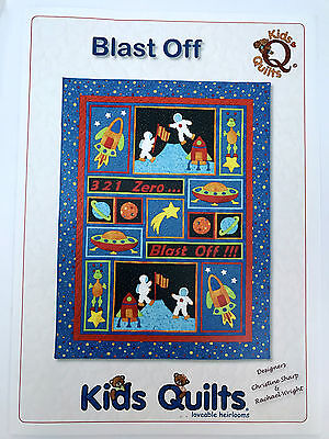 Blast Off Children's Single Quilt Applique Quilt Pattern Kids Quilts